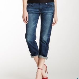 AG Tomboy Crop Jean 29R Relaxed straight USA made